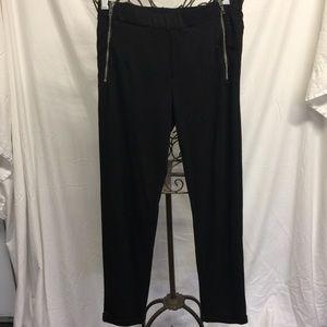Tuxedo black knit pants